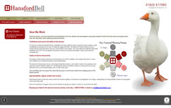 Hansford Bell Chartered Financial Planners website screenshot
