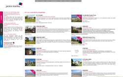 Jackie Stanley Estate Agents Padstow and Rock website screenshot